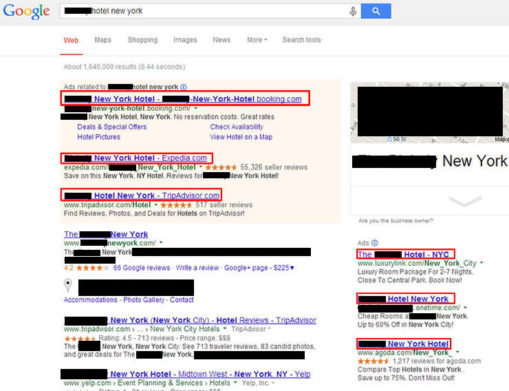 new york search result